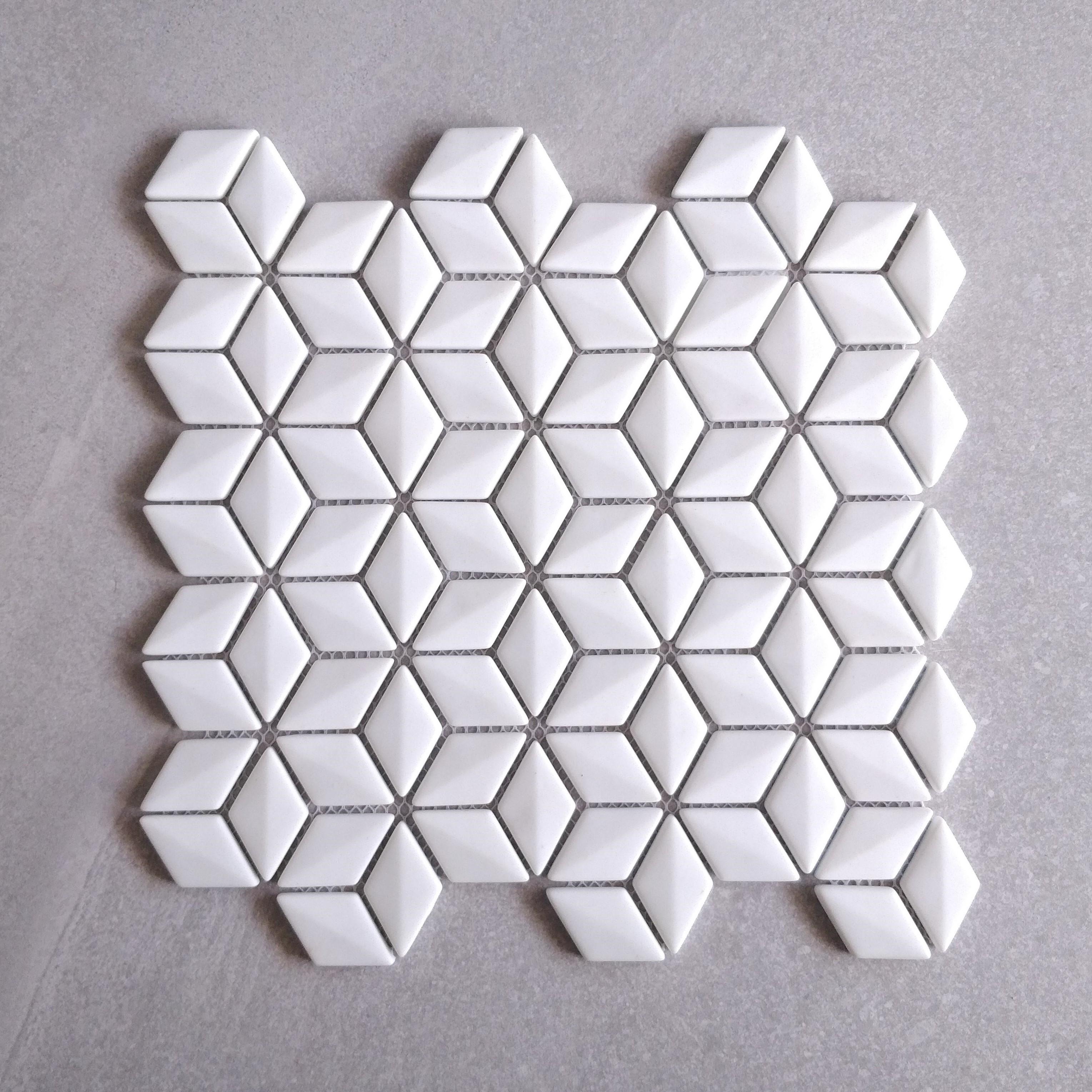 White Glass Rhombus
