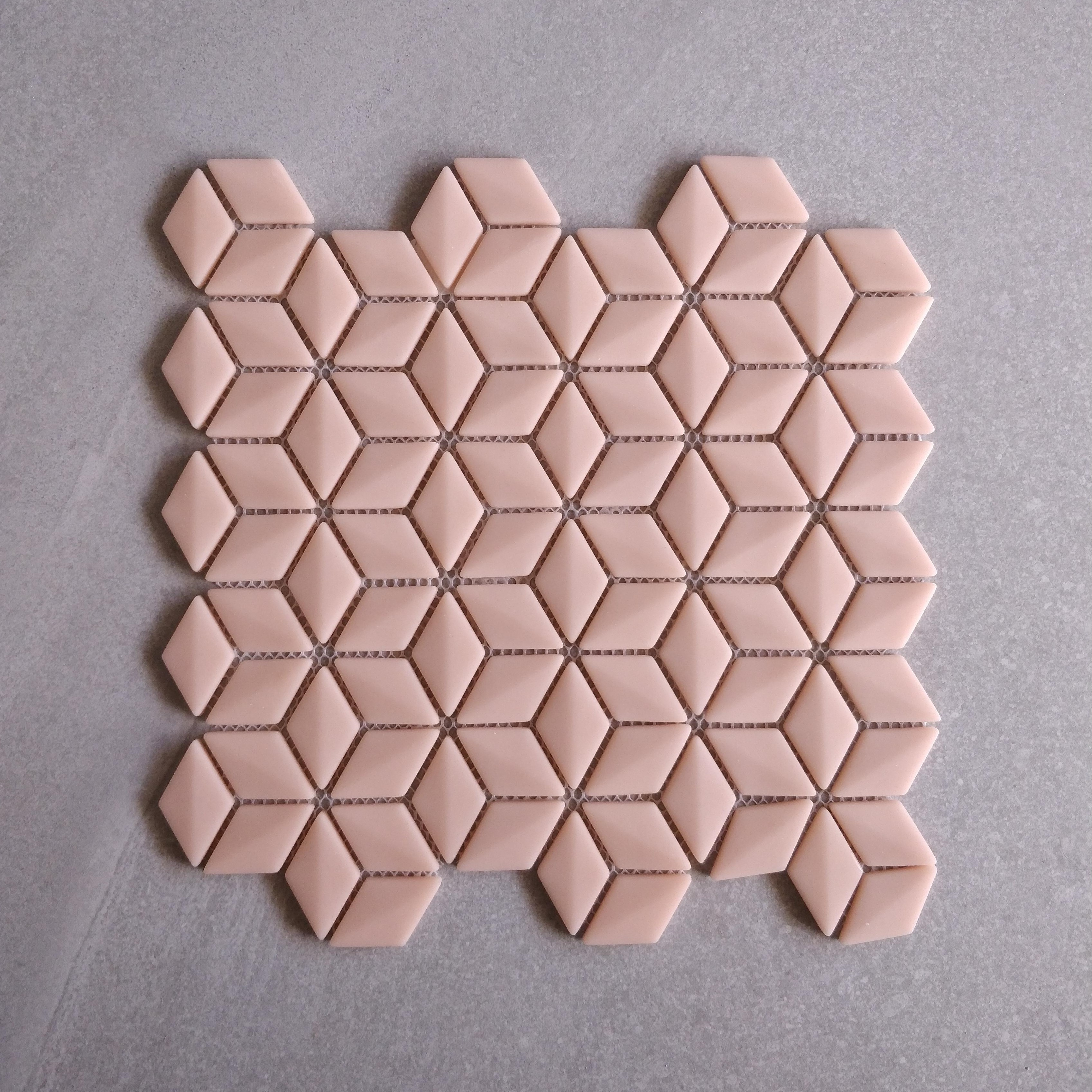 Pink Glass Rhombus