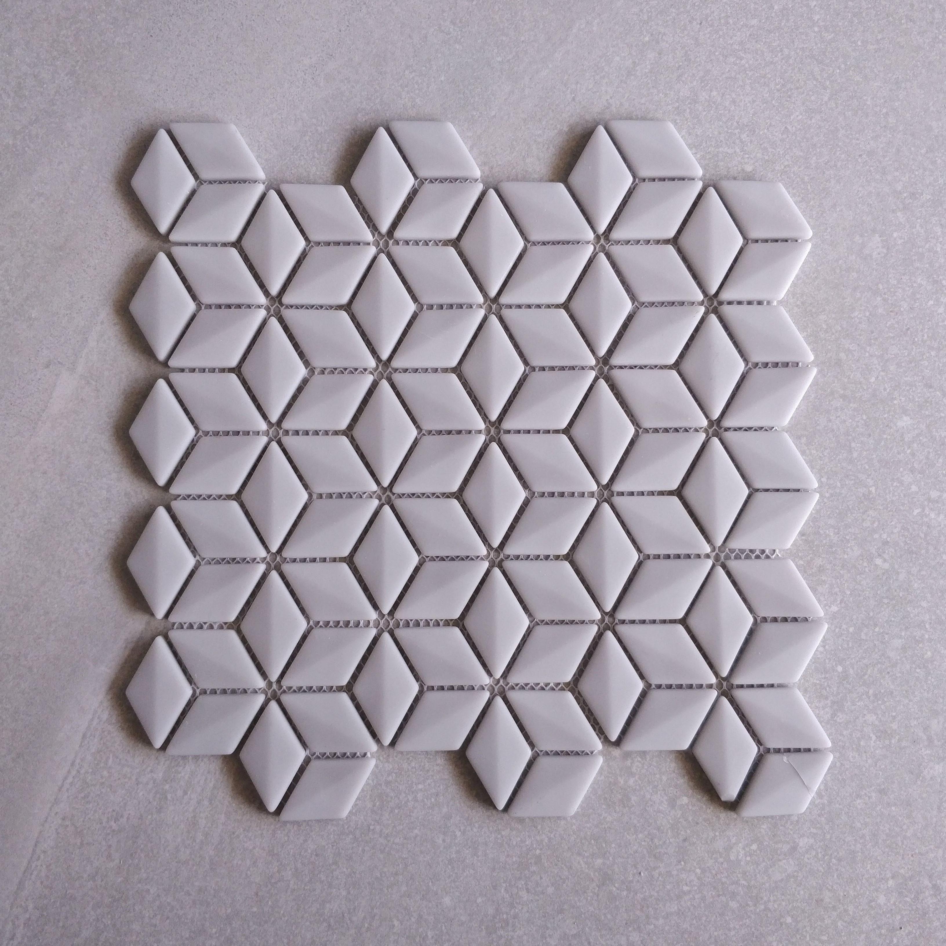 Grey Glass Rhombus